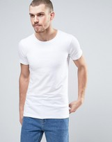 Lindbergh T-Shirt In White Stretch Cotton