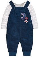 Mothercare Bodysuit And Dungaree Set, Navy, (Manufacturer Size:56)