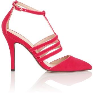 Paper Dolls Footwear Bess Pink Cage Heels