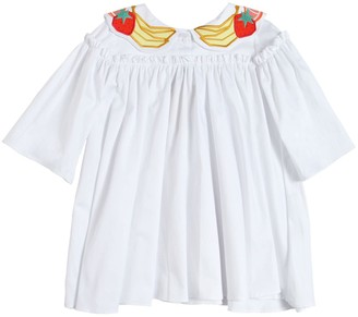 Raspberry Plum Fruit Patches Cotton Poplin Shirt