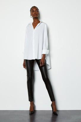 Karen Millen Faux Leather and Ponte Legging