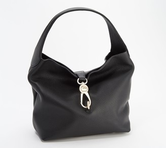 Dooney & Bourke Pebble Leather Logo Lock Hobo
