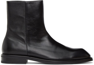 ANDERSSON BELL Black Square Toe Boots
