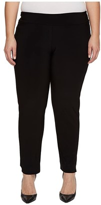 Krazy Larry Plus Size Microfiber Long Skinny Dress Pants (Black) Women's Dress Pants