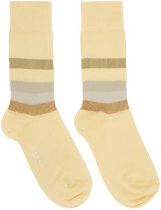 Marni Yellow Stripe Socks