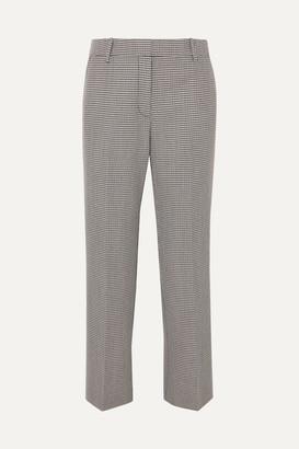 Alexander Wang Houndstooth Wool-blend Straight-leg Pants - Black
