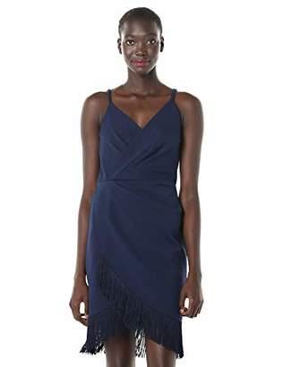 Betsey Johnson Women's Petite Faux Wrap Dress