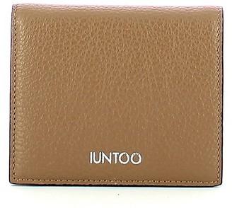 Iuntoo Beige Leather Armonia Bi-Fold Women's Wallet