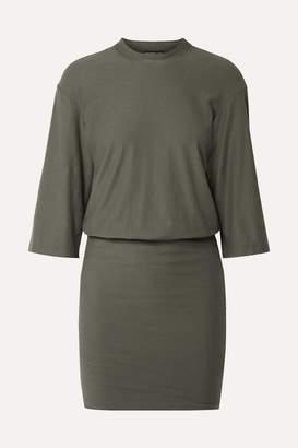 James Perse Stretch-cotton Jersey Mini Dress - Army green