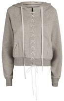 Unravel Project Terry Lace-Up Hoodie