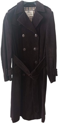 Aquascutum London Brown Velvet Coat for Women