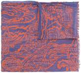 Etro two-tone pleated scarf