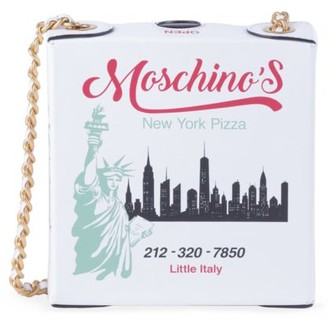 Moschino Pizza Box Leather Crossbody Bag