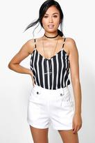 Boohoo Amy Tailored Button Detail Pocket Shorts