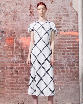 Jason Wu Windowpane Silk Day Dress
