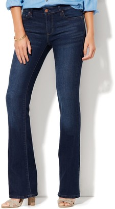 New York & Co. Petite Mid-Rise Instantly Slimming Curvy Bootcut Jeans