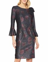 Thumbnail for your product : Gina Bacconi Women's Belanna Floral Metallic Print Dress Cocktail
