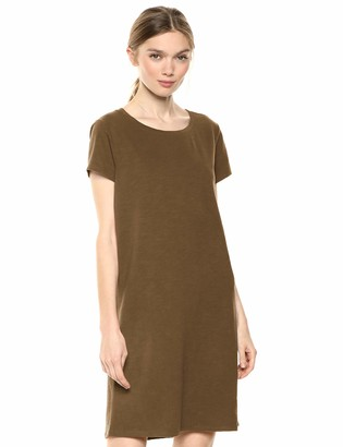 Daily Ritual Women's Lived-in Cotton Relaxed-Fit Crewneck T-Shirt Dress