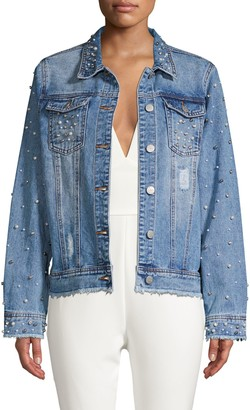 Lea & Viola Embellished Denim Jacket