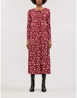 Free People Tiers of Joy floral-print stretch-jersey midi dress