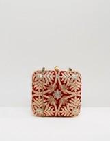 Park Lane Embroidered Box Clutch Bag