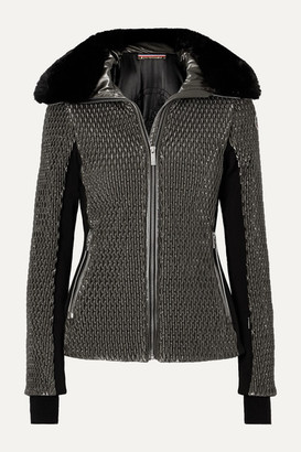 Fusalp Montana Faux Fur-trimmed Quilted Luminescent Ski Jacket - Silver