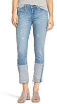 Blank NYC Women's Blanknyc Cuffed Straight Leg Jeans