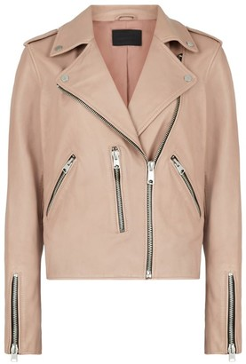 AllSaints Leather Fern Biker Jacket