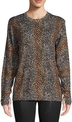 Equipment Cheetah-Print Wool Sweater