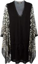 Roberto Cavalli leopard print shift dress - women - Silk/Polyester/Viscose - 42