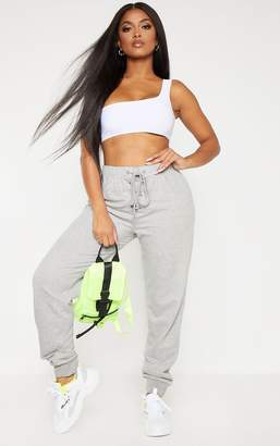 PrettyLittleThing Shape Grey Lace Up Detail Sweat Jogger