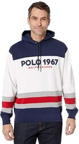 Polo Ralph Lauren Color Block Hoodie (White Multi) Men's Clothing