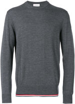 Moncler tri-tone trim knitted jumper