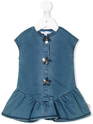 Little Marc Jacobs Petal-Button Denim Dress