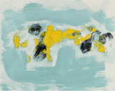 """Serena & Lily """"Yellow Forms on Turquoise"""" by Gwen Stone"""