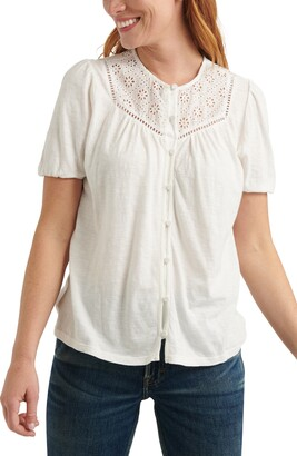 Lucky Brand Button-Up Knit Top
