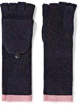 Rag & Bone Jubilee Metallic Merino Wool-blend Fingerless Gloves - Navy