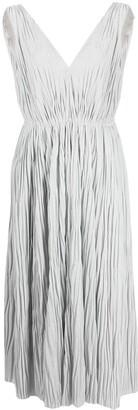 Fabiana Filippi pleated V-neck dress