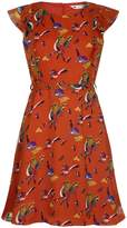 Yumi Bird and Butterfly Print Dress