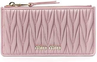 Miu Miu Pink Quilted Leather Wallet