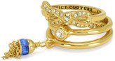 Juicy Couture Bow & Tassel Ring Set