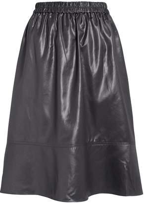 Tibi Liquid Drape Vegan Leather Skirt