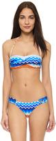 Shoshanna Laguna Twist Bandeau Bikini Top