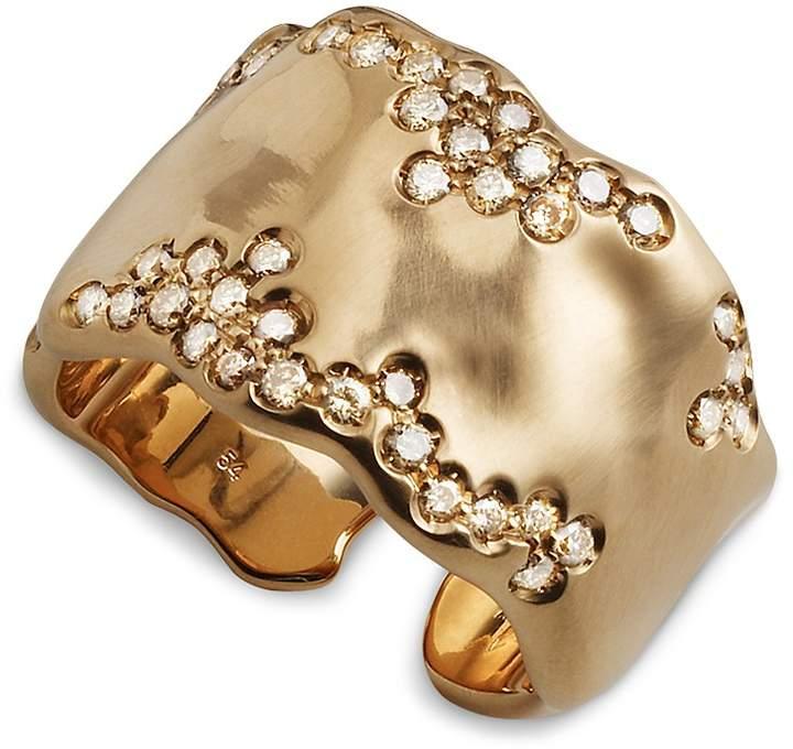 Antonini 18K Rose Gold Anniversary Large Champagne Diamond Ring
