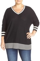 Sejour Dolman Sleeve Wedge Sweater (Plus Size)