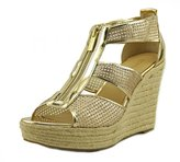 MICHAEL Michael Kors Damita Wedge Women US 9.5 Gold Wedge Sandal