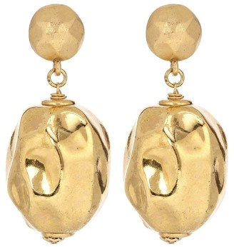 Oscar de la Renta Brass earrings