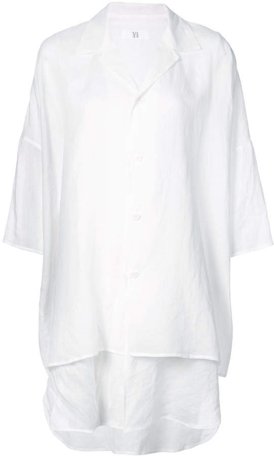 Y's layered long line shirt