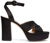Gianvito Rossi Block-heel platform satin sandals