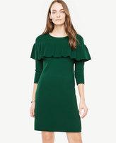 Ann Taylor Tiered Ruffle Sweater Dress